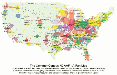 Geography of football fans
