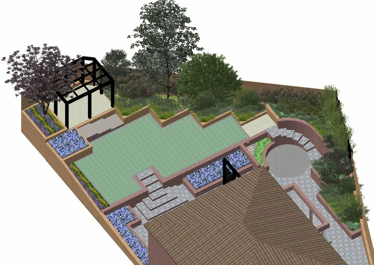23 best images about sloping garden design on pinterest for Garden design visualiser