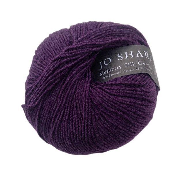 Mulberry Silk Georgette, Merino wool & silk knitting yarn, 50g, Fig - I Wool Knit - 1