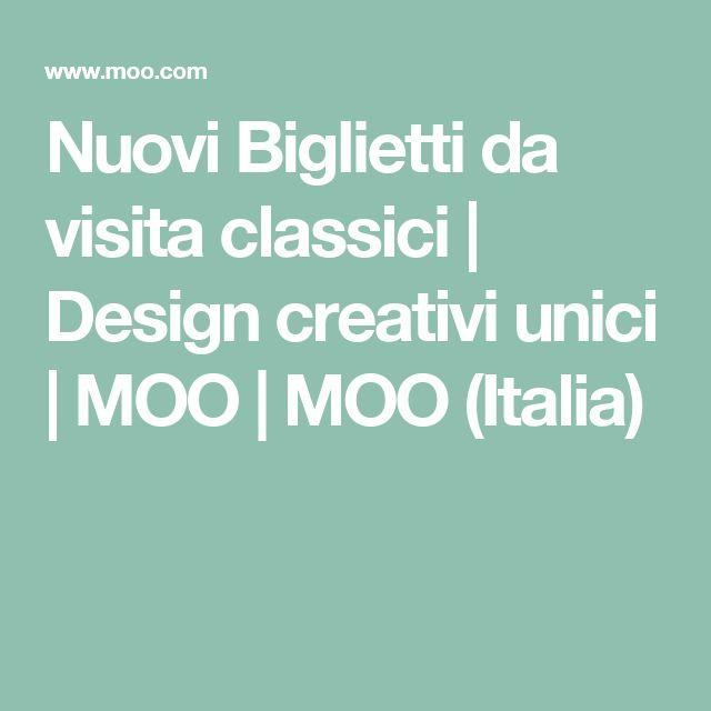 Nuovi Biglietti da visita classici | Design creativi unici | MOO | MOO (Italia)