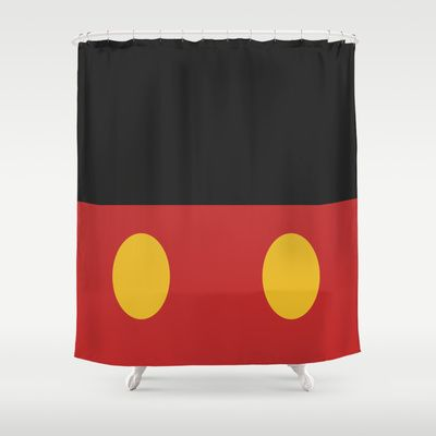 Minimal Mickey Mouse Shower Curtain Mickey Mouse Shower