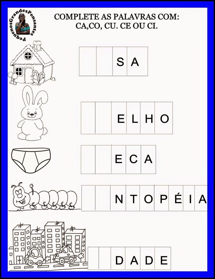 Pequenos Grandes Pensantes.: Atividades Inéditas com a letra C