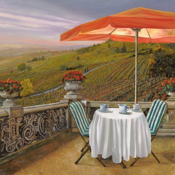Un Caffe Painting - Un Caffe Fine Art Print - Guido Borelli