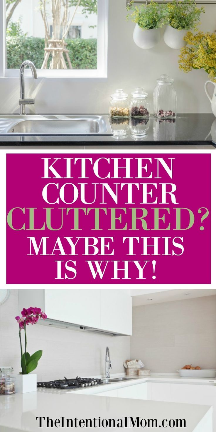 Are your kitchen countertops cluttered Mine certainly