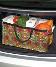 "Trunk Organizers - I need to sew something like this for the ""basement"" and/or under the bed in the RV - Oilcloth would be a good fabric choice"