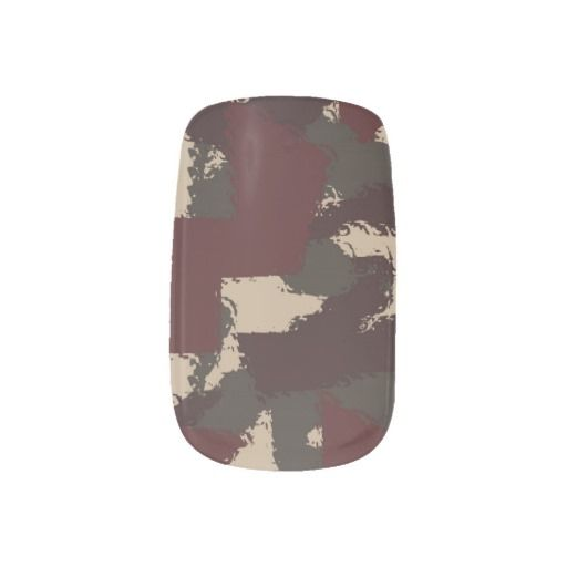 Abstract Military Camouflage Pattern Minx® Nail Art #fomadesign