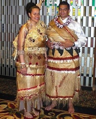 Tongan traditional wedding attire. I will never wear this but I see it when I'm with my mom's family. Tapa cloth is VERY valuable to the Tongan people so it's always worn for every and all occasion.