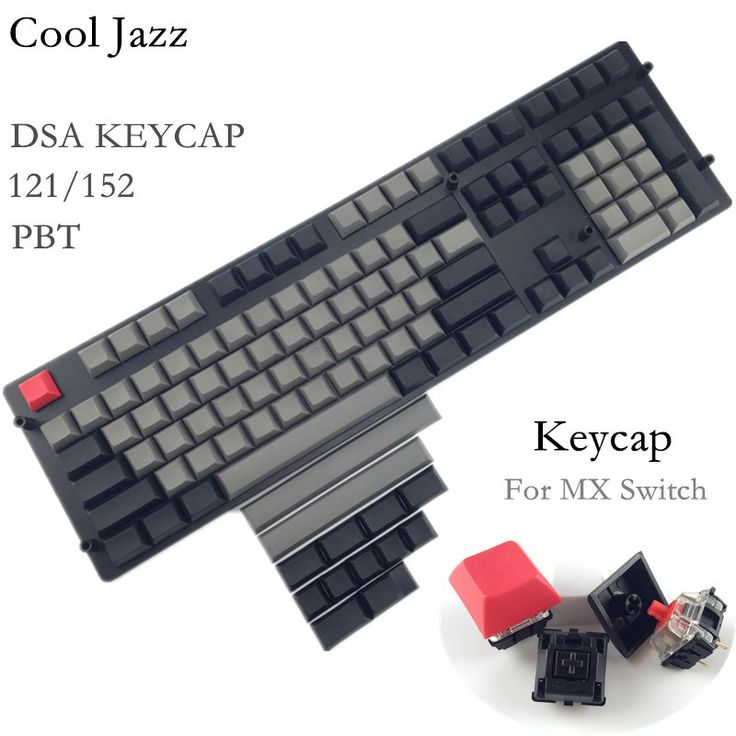 Big discount US $29.93  Cool Jazz 121/152 DSA keycap dolch white and grey pbt blank keycaps for wried mechanical gaming keyboard  #Cool #Jazz #keycap #dolch #white #grey #blank #keycaps #wried #mechanical #gaming #keyboard  #CyberMonday