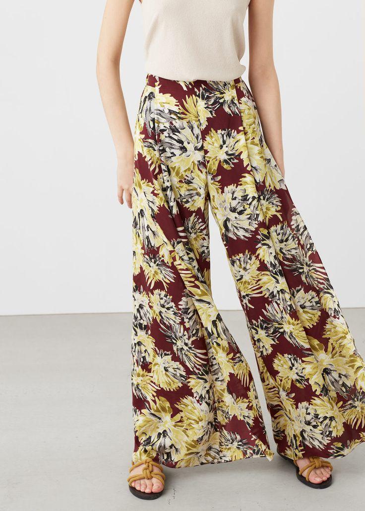 Bedruckte capri-palazzohose  - Hosen für Damen | MANGO Deutschland