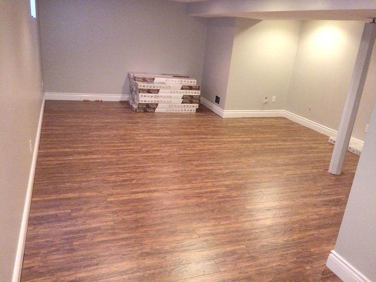 Laminate flooring is installed over platon surface.