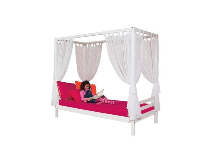 Vorhang Set Weiß für Himmelbett 70x160cm, 4-teilig, Hoppekids, Jetzt bestellen unter: https://moebel.ladendirekt.de/kinderzimmer/betten/baldachine/?uid=62c047fa-5a03-57f1-b700-c3438f640f03&utm_source=pinterest&utm_medium=pin&utm_campaign=boards #baldachine #kinderzimmer #vorhang #betten #ausguck #tunnel