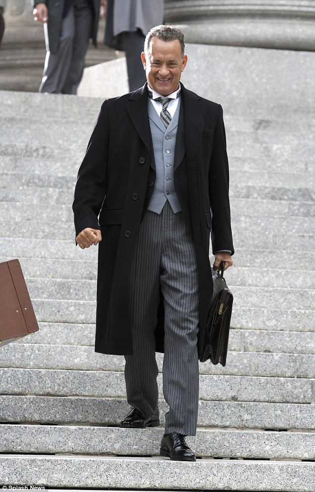 "James B. Donovan (Tom Hanks) in ""Bridge of Spies"" (2015). This film is full of awesome Cold War-era suits."