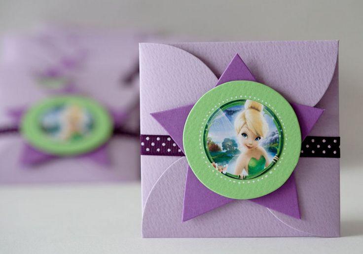 Invitaciones de cumpleaños infantiles de Tinkerbell