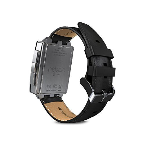 Pebble Steel Smartwatch Stainless  Pebble Steel Smartwatch Stainless    Pebble Steel Smart Watch for iPhone and Android Devices    Pebble Steel brings smart function and elegant form together in a high-end package. Ruggedly handsome, Pebble Steel is crafted from marine-grade stainless steel and Corning Gorilla Glass, so it's as tough as it is good looking. And it's built with the same brains as Pebble, so you can have the latest scores, your Starbucks card or even your boarding pass ..