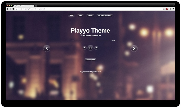 Playyo is a cool Wordpress Premium Theme which is perfect for new bands and for emerging singers. Another feature is the e-commerce for songs and albums. Simply cool.
