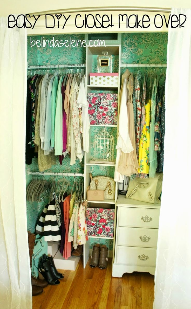 Easy DIY Closet Make Over  This is really cheap, affordable, and beautiful!  www.BelindaSelene.com
