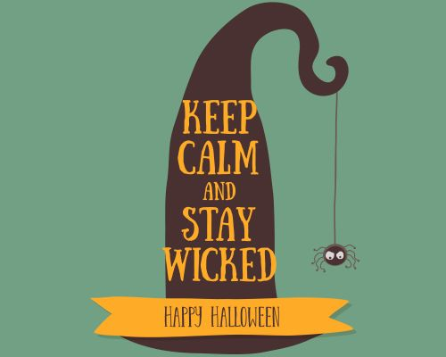 A Cute Halloween Witch Hat For The Wicked Ones. Free Online Stay Wicked  This Halloween Ecards On Halloween