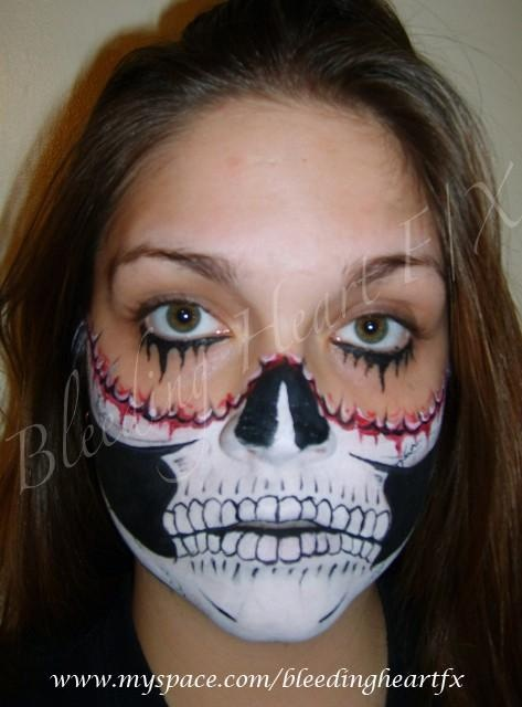 Rainbow Skeleton Face Paint For Kid
