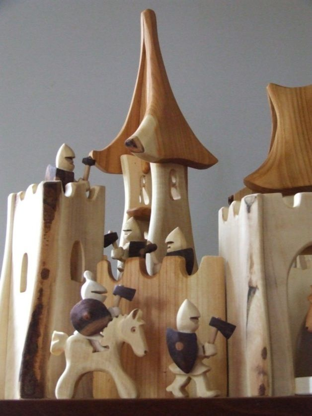 Wooden Toys – Ritterburg – a unique product by Holzzauber on DaWanda