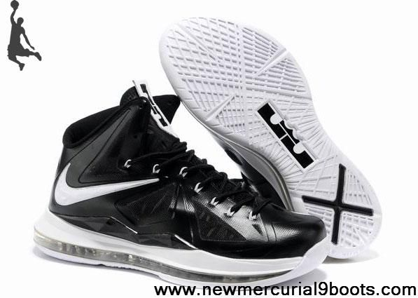 Buy Cheap Nike Lebron X (10) 541108-010 Black White Style Your Best