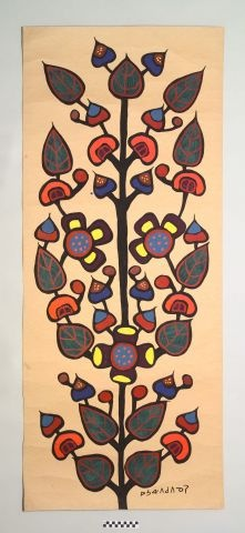 Treasure of the week from the Pequot Museum-Tree of Life by Norval Morrisseau ^mv ow.ly/i/1fJ3t