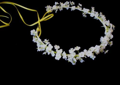 for flower girl, something that will last for her to keep for ever, maybe just baby breath