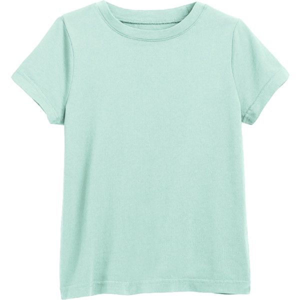 The Classic Tee (£6.16) ❤ liked on Polyvore featuring tops, t-shirts, short sleeve, green top, short sleeve tops, short sleeve t shirt, short sleeve tee and green t shirt