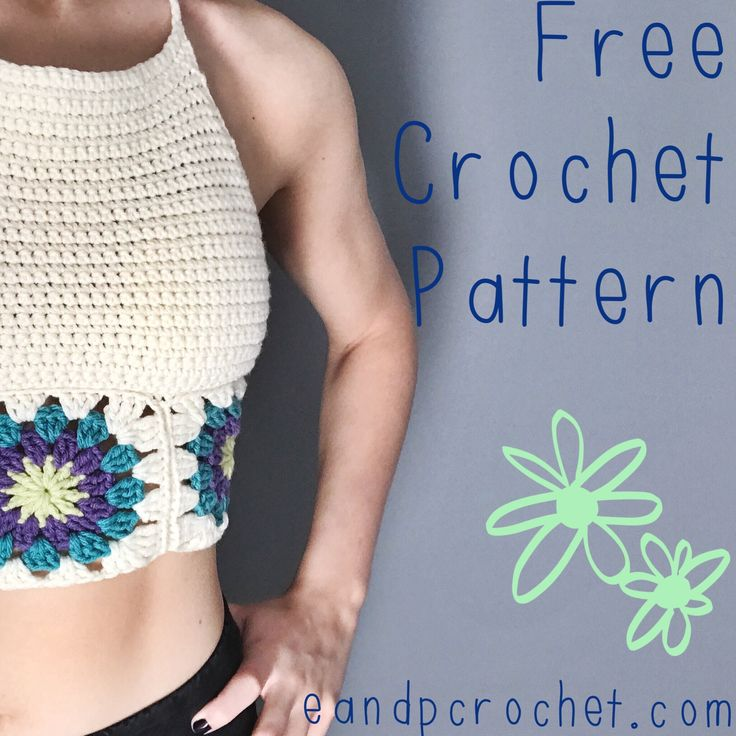 I've never liked the cold and only enjoy snow during the holidays, so I can not wait for summer! I decided to make a crop top and of course had to add some colorful granny squares. This pattern is pretty simple. If you can make a granny square and know how to single crochet, then you can make this top! Be sure to follow and tag me on Instagram so I can see your crop top creations! Materials: 4.25mm Crochet Hook Worsted Weight yarn. I recommend Red Heart Super Saver for this top. Yarn Needle…