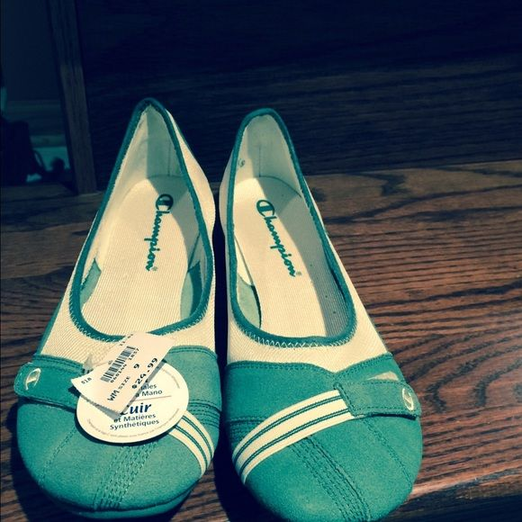 NEW Champion shoes with tag Champion flats, soft and comfy! Nice green color. Size 9 Champion Shoes Flats & Loafers
