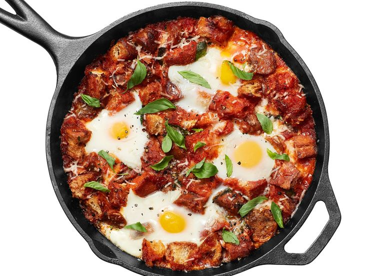 Eggs in Purgatory with Sausage recipe from Food Network Kitchen via Food Network