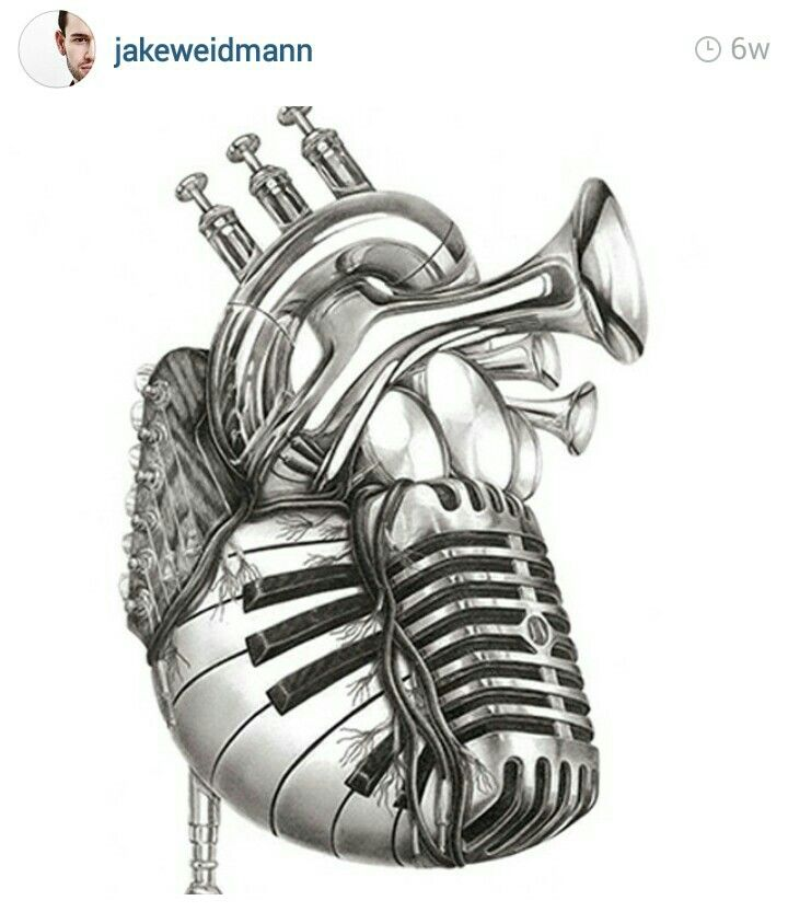 Heart of Instruments Tattoo