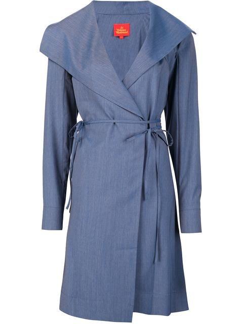 Shop Vivienne Westwood Red Label longsleeved wrap dress.