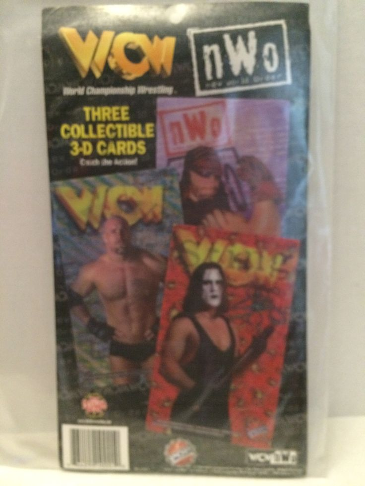 (TAS031965) - 1999 WCW nWo Wrestling Three Collectible 3-D Cards - Sting