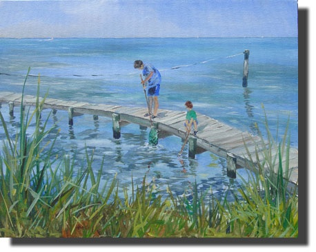 Boys on Dock - Tom Roberts