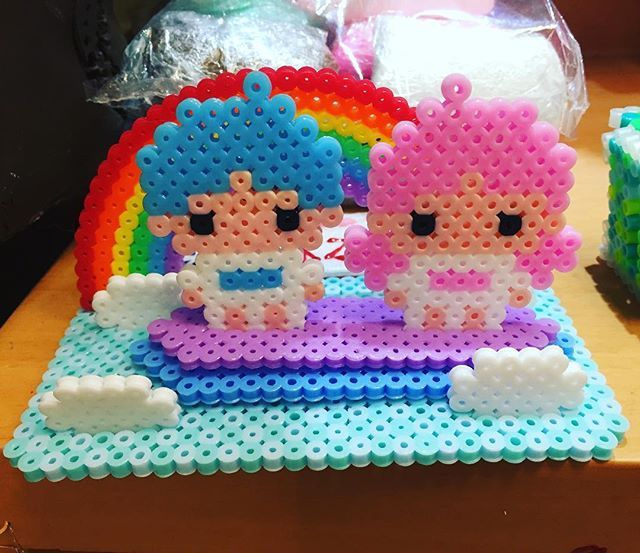Little Twin Stars perler beads by wonderlond_ken