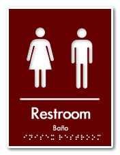 The Best ADA Braille Signs Images On Pinterest Bathroom Signs - Professional bathroom signs