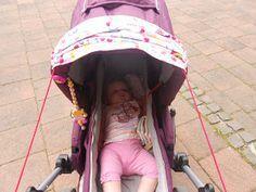 Leyona - Familienleben meets Autismus: DIY Sonnensegel für den Kinderwagen