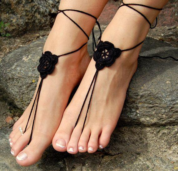 Crochet Beach Wedding Shoes Crochet Barefoot Sandals by luludress