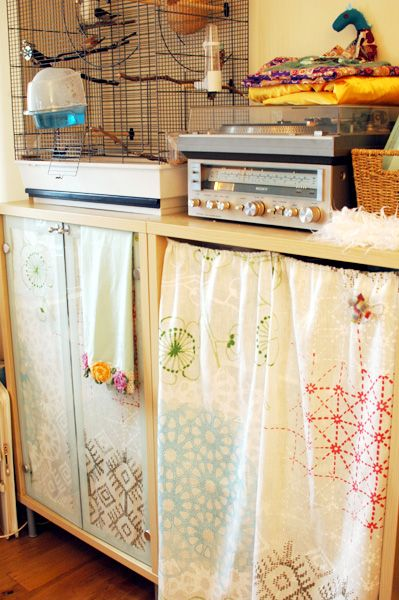 107 best Cabinet curtains images on Pinterest   Craft rooms, Craft ...