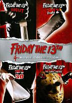 Friday the 13th: 4-Movie Collection DVD This gruesome release for horror fans includes four classic films in the FRIDAY THE 13TH slasher franchise. Films offered in the set include FRIDAY THE 13TH: UNCUT, FRIDAY THE 13TH: PART 2, FRIDAY THE 13TH PART 3: 3D, and FRIDAY THE 13TH: THE FINAL CHAPTER.