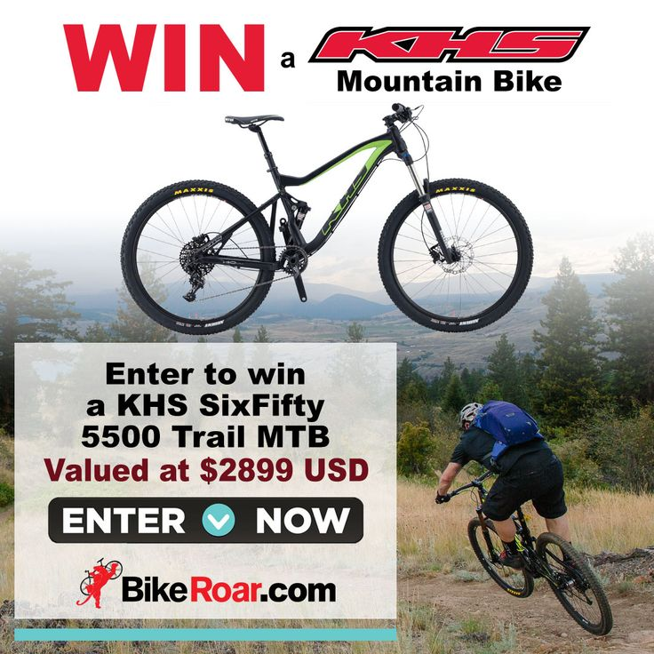 Enter to win a KHS SixFifty 5500 trail MTB in BikeRoar's contest! Please Enter Via This Link:  http://bike.roa.rs/ref/u3201292