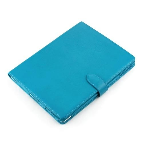 Napa Turquois Apple iPad2 / New iPad Genuine Leather Folio Case $49.99