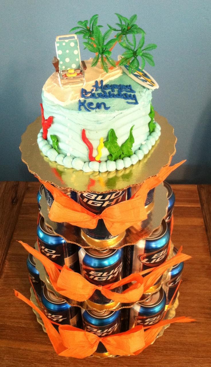Ken S Belated Blue Boy Beer Birthday Cake Birthday 80