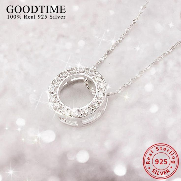New Collares En Gros Véritable en argent bijoux 925 Sterling Argent Colliers pour Femmes Cadeau De Noël Bijoux
