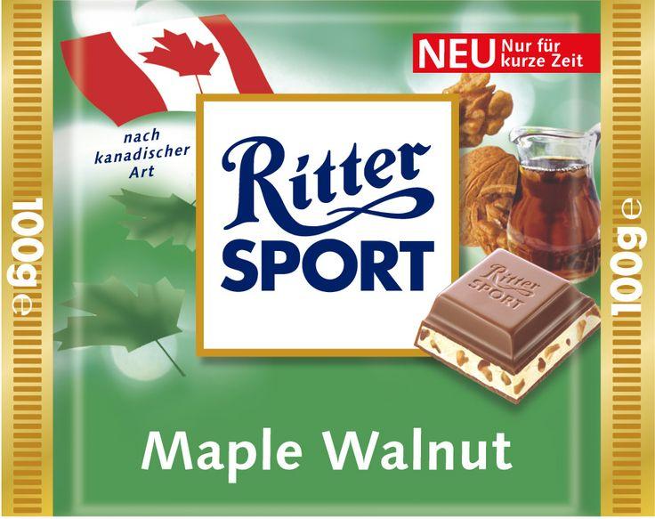 Die RITTER SPORT Maple Walnut (2004 und 2005 im Sortiment) gab es im Rahmen der Länderpromo.