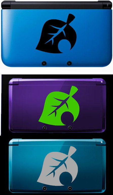Animal Crossing Leaf Decal. $3.00, via Etsy. The green one would look fantastic on my midnight purple 3DS!