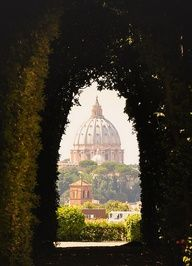 Rome with a View - Best  spots on high for photos in Rome---I looked through a keyhole for this view:). Will never forget that day!