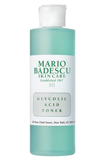 Mario Badescu Glycolic Acid Toner. I love this toner . After shower I always tone then moisturize I usually do this before bed and when I wake up my skin is so flawless and has an amazing glow this stuff does burn though well tingles but I just sit in front of the fan till it dries .