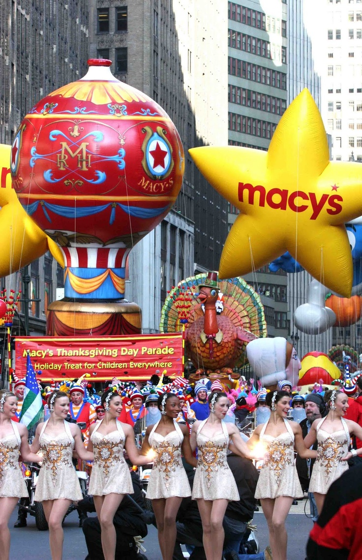 Thanksgiving Macy Day Parade New York City Rockettes Turkey Float #newyork, #NYC, #pinsland, https://apps.facebook.com/yangutu