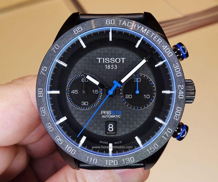 Tissot PRS 516 Automatic Chronograph azul - frontal
